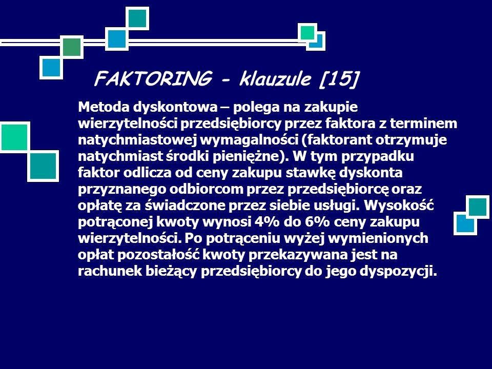 FAKTORING - klauzule [15]